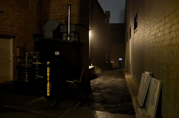 alley in the mist