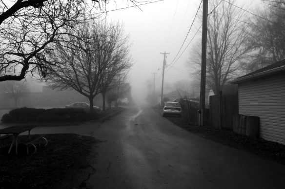 foggy alley