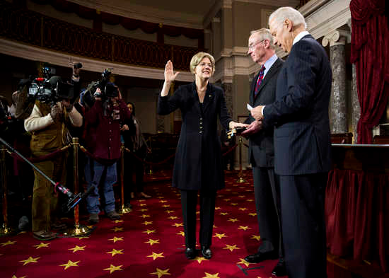 Senator Elizabeth Warren, 4 January, 2013