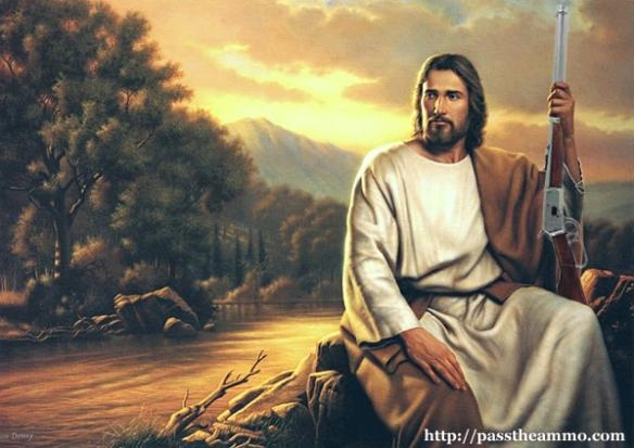 jesus, armed