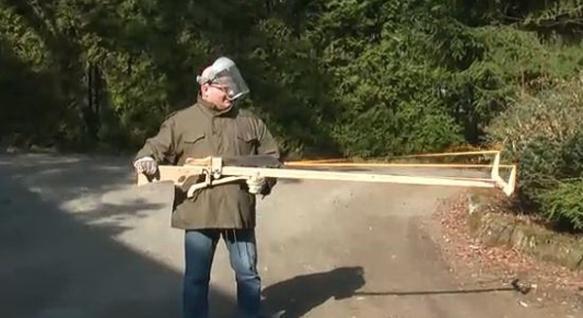Unidentified 'progressive' with a gun that shoots machetes