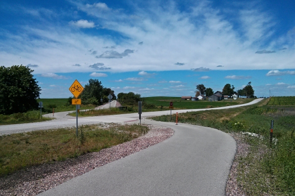Bike trail intersection