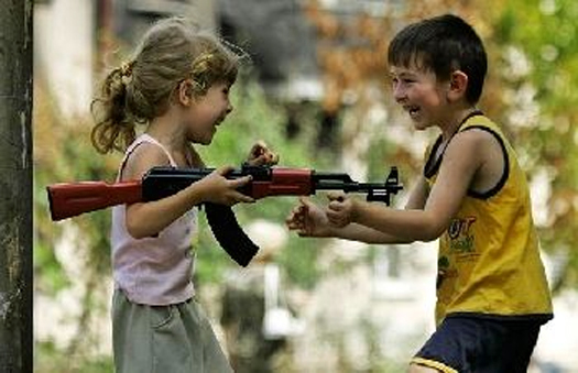 children with gun