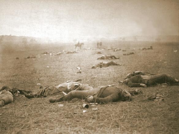 Dead troops at Gettysburg