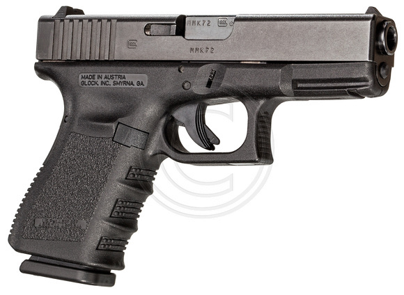 .40 caliber Glock 23 -- superior penetrating power, bitches