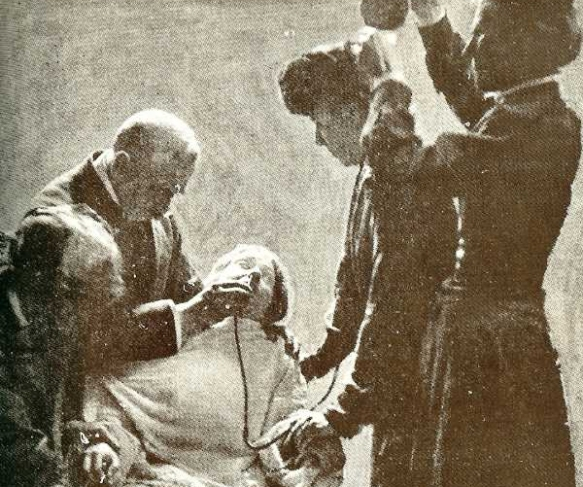 Suffragette hunger striker being force-fed
