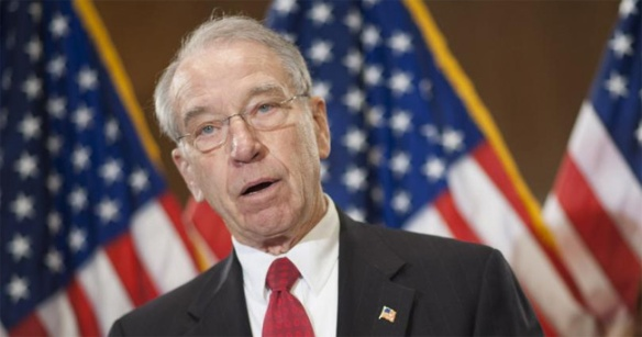 Senator Chuck Grassley, spongy po-faced corn-fed fustilarian Republican from Iowa voted No