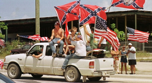confederate flag truck