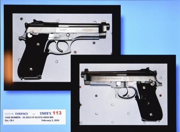 Dunn's 9mm Taurus handgun