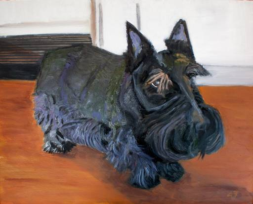 Bush portrait of Russian President Vladimir Putin. No, wait...that's his dog Barney.