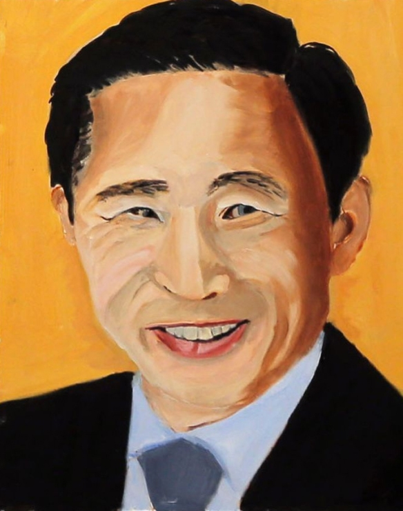 Bush portrait of Vladimir Putin. No, wait...that's former South Korean president Lee Myung-bak.