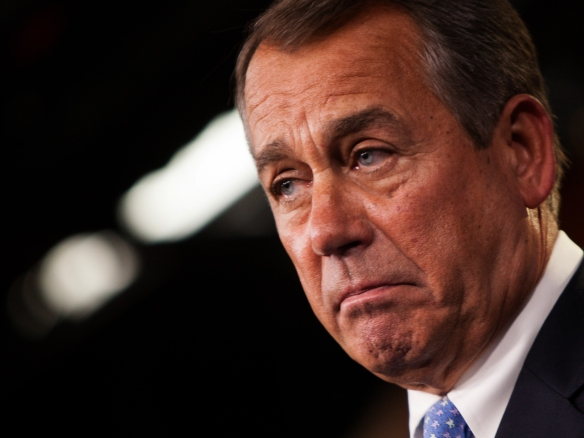 Speaker of the House John Boehner, chortle-free