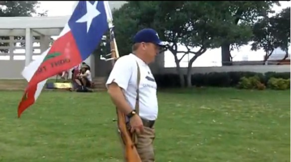 Open Carry Texas promoting the Second Amendment in Dealey Plaza
