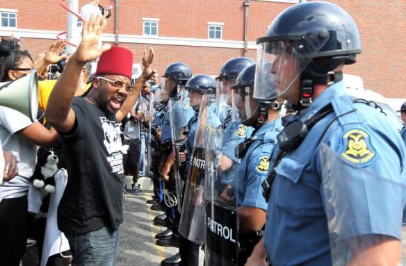 Ferguson confrontation