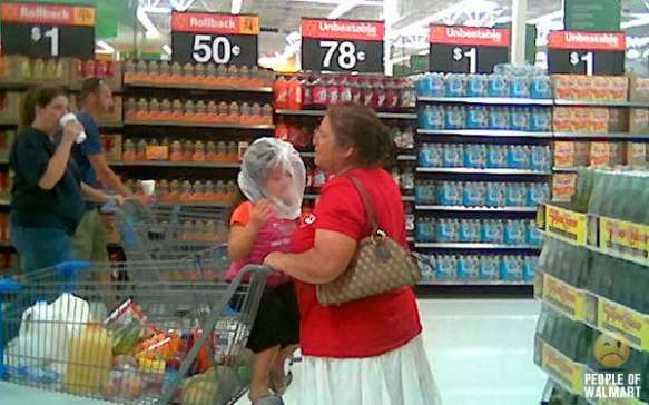 Happy Walmart customers