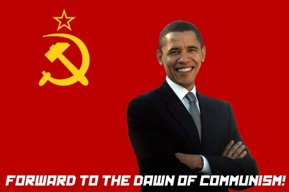America-hating President of Communist America Barack Obama of Kenya