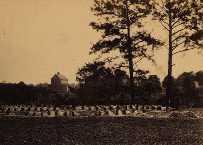 New graves of Union soldiers at the Washington Race Course