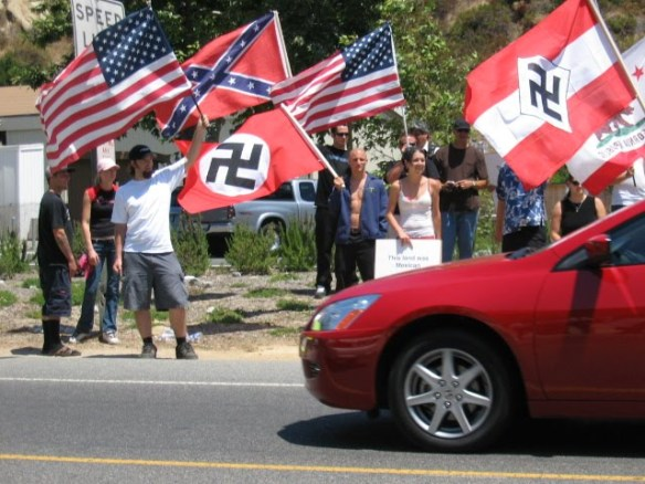 flags and racists