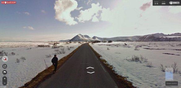 geo guy walking northern tip of Norway