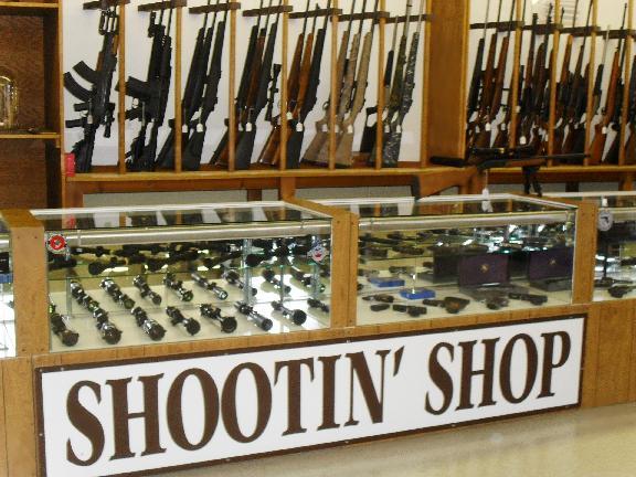 Shootin' Shop shootin' scene.