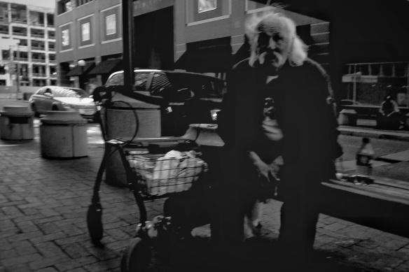old drunk sitting