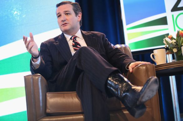 Senator Ted has thoughts and...hey, what the fuck has he got on his feet?
