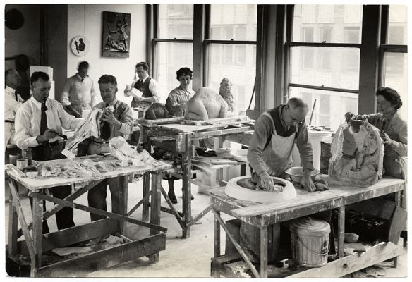 WPA - sculpture workshop.