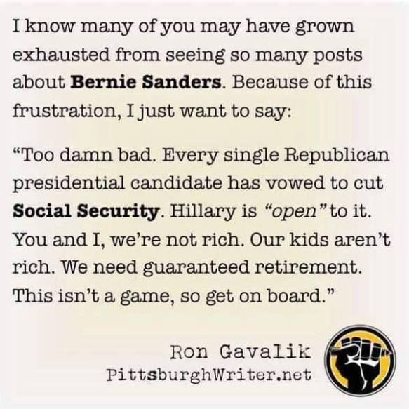 bernie hillary social security