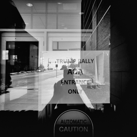 I didn't see anybody use the ADA entrance; I'm not sure Trump supporters are familiar with the Americans with Disabilities Act.