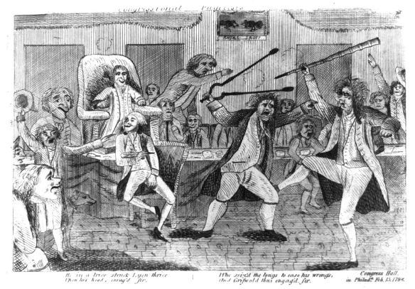 Griswold versus Lyon, Congressional Death Match of 1798.